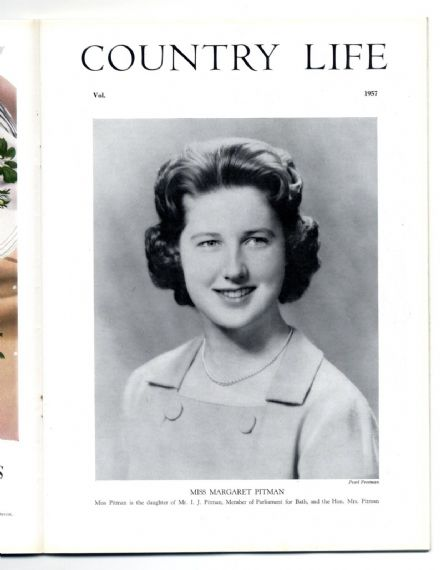 1957 COUNTRY LIFE Magazine 9 May MARGARET PITMAN Aubrey House Kensington (7413)